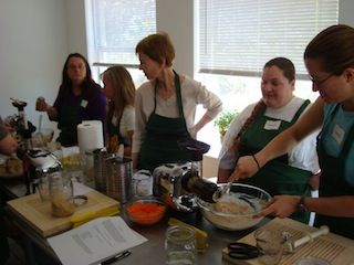Making Raw Crackers at the Cleanse Workshop
