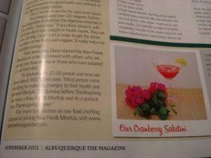 Raw Fresh Fruit Saketini Recipe - Albuquerque The Magazine