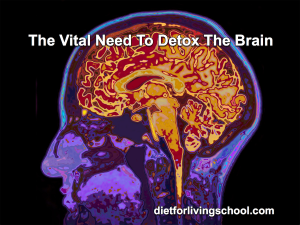 the brain relies on detoxification to rinse away harmful wastes and proteins