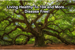 living over 104 years old disease free is simply the natural order of the universe